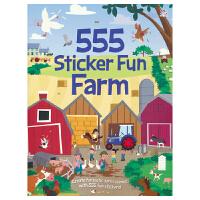 555 Sticker Fun Farm 有趣农场贴纸书 儿童益智英文故事绘本 555张贴纸 英文原版进口