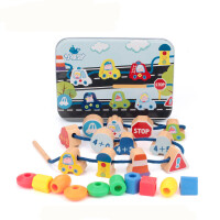 1-2岁3岁儿童玩具积木早教绳子穿珠子绕珠120串珠玩具宝宝益智力