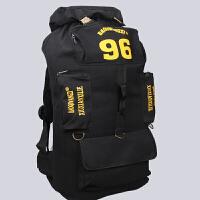 男士大号帆布双肩包100L超大容量托运包学生行李包出国留学旅行包 大