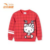 安踏童装女小童卫衣儿童运动套头衫36839701