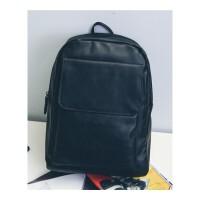 男士背包双肩包皮质时尚潮流PU皮学生书包旅行包包韩版潮包出差手提包休闲商务包
