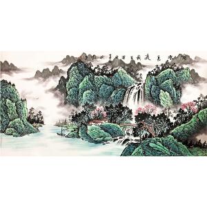 潘兴鹏《山水五》著名山水画家
