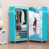 简易衣柜学生宿舍单人小衣橱置物整理收纳柜经济型钢管加粗布衣柜-梦幻少女