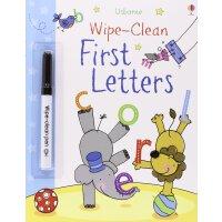 First Letters英文原版进口涂写擦擦书:字母(内附擦擦笔)