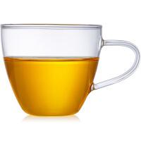 玻璃小茶杯小把杯耐热玻璃透明玻璃杯茶杯