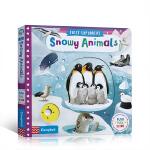 英文进口原版 busy系列 First Explorers Snowy Animals 儿童科普启蒙机关操作纸板书 2