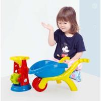 儿童沙滩玩具套装推车沙漏组合宝宝决明子玩沙子挖沙铲子工具