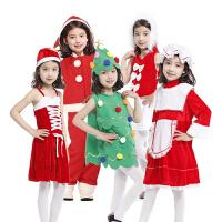 孩派 儿童圣诞节表演服装 缎带圣诞俏丽公主 女孩套装圣诞服装