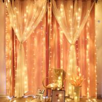 彩灯串 LED网红瀑布窗帘灯浪漫婚庆婚房布置求婚表白生日房间装饰圣诞节节日灯串