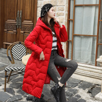 【秋冬新品】高端专柜品牌很仙的好看的棉衣女中长款2019新款韩版修身收腰棉袄女冬装加厚外套潮