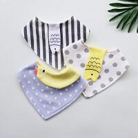 宝宝纯棉三角巾柔软围嘴新生儿口水巾婴儿卡通围兜