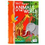 英文原版360 POP-UP. ANIMALS OF THE WORLD动物世界 360度剧场立体书