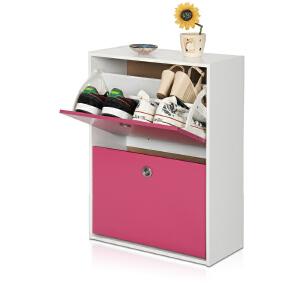 [当当自营]慧乐家 鲁比克二门彩色鞋柜 粉红色 11047-1