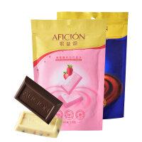 歌斐颂海盐醇黑巧克力零食110g*2袋