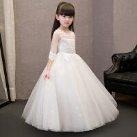 儿童公主礼服蓬蓬裙演出服长款裙钢琴纱裙