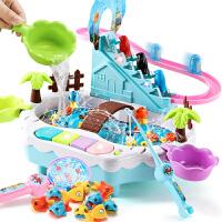 儿童电动钓鱼玩具池套装宝宝益智两岁半男孩女孩小孩