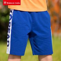 【2件2.5折:35元】探路者儿童童装 春夏户外新款男童柔软舒适儿童针织短裤QAMG83036