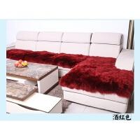 定做欧式冬天季加厚防滑羊毛沙发垫实木皮沙发毛绒坐垫飘窗垫