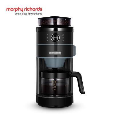 英国摩飞 MR1102摩飞咖啡机家用全自动磨豆预约现煮美式煮咖啡壶 24小时预约直落粉技术可拆卸清洗磨盘水箱