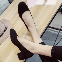 3cm秋季高跟鞋女粗跟中跟5公分圆头正装学生礼仪复古单鞋工作职业