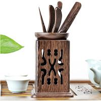 鸡翅木茶道六君子套装实木黑檀木竹功夫茶具泡茶工具零配茶具配件