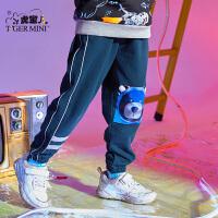 【2件3折:59.7元】小虎宝儿男童裤子2021春装款儿童纯棉长裤运动中大童洋气