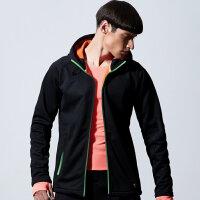 七匹狼户外运动夹克外套青年男士春季时尚休闲连帽针织夹克