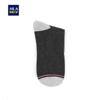 HLA/海澜之家运动风镶拼潮流字母中筒袜新品男士休闲棉袜