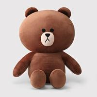 布朗熊公仔大�可拆洗可妮兔毛�q玩具女生大熊娃娃抱枕生日�Y物女