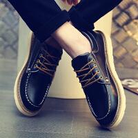 英伦les帅t休闲运动鞋男士林弯弯板鞋小码皮鞋工装鞋韩版大头鞋子