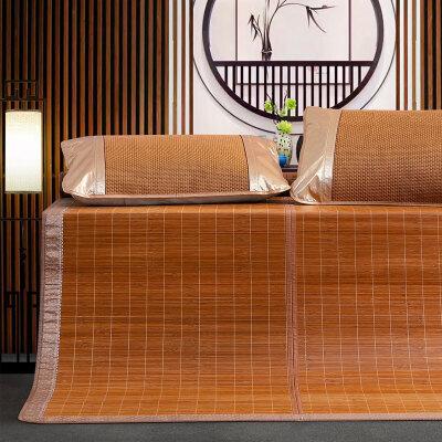 水星出品 百丽丝家纺碳化竹席可折叠席子竹凉席 竹曦碳化竹席 竹岚碳化竹席