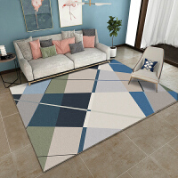 简约现代北欧客厅地毯沙发茶几垫少女心地垫卧室床边满铺可爱家用k 深蓝色 AJ-(206)