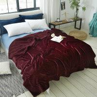 毛毯珊瑚绒被子双层午睡盖毯秋冬季加厚仿羊羔绒保暖单人宿舍小毯子k