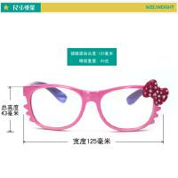儿童防蓝光眼镜 女孩软质防辐射抗疲劳电脑游戏平光护目镜 蝴蝶结