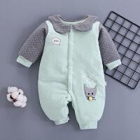 婴儿连体衣春秋保暖夹棉四幼儿七网红新生儿两个月3宝宝哈衣0-1岁