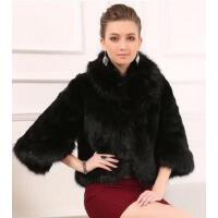 新款女仿皮草外套时尚个性皮草上衣女坎肩狐狸毛短款仿皮草披肩