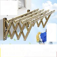 阳台外伸缩晾衣架户外推拉晒衣架 折叠晾衣杆室外凉衣架晒架