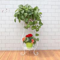 空大 欧式铁艺花架落地室内客厅阳台多层植物花盆架绿萝吊兰植物花架子HJ-14
