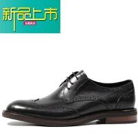 新品上市意大利手工复古德比鞋男圆头 真皮雕花皮鞋 英伦风款式男鞋