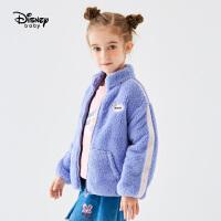 【3折�A估�r:53.3元】迪士尼女童舒棉�q外套秋冬新款童�b可�劭ㄍ�拉�衫�和�����上衣