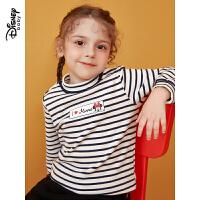 【2件3折价:47.7】迪士尼童装儿童长袖上衣秋冬新款宝宝女童可爱半高领打底衫T恤