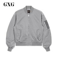 GXG男装 夹克外套男春季热卖流行韩版潮流修身灰色刺绣休闲棒球服