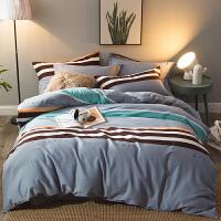 家纺冬季棉磨毛四件套加厚秋冬天被套1.8m床上用品y 乳白色 梦想