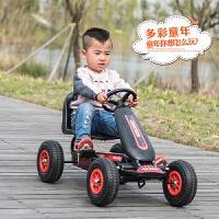 卡丁车儿童儿童卡丁车四轮脚踏运动健身车小孩脚蹬可做男女宝宝玩具自行赛车ZQ222 中国红 脚踏四轮车:环保塑料轮 其它