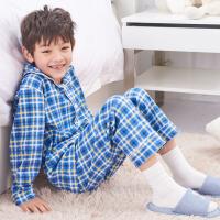 儿童家居服套装秋冬男童女童中大童长袖睡衣空调服童装