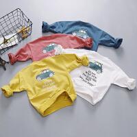 男童长袖T恤春秋宝宝春季打底衫白色婴儿上衣春装女童