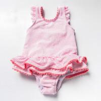 儿童游泳衣 女童婴儿连体三角泳衣可爱裙式宝宝婴童温泉泳装