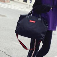 新品男士旅行包出差手提旅游包短途行李袋大容量女大包健身运动包 黑色 大