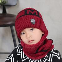 男童冬天保暖帽子成人亲子款滑雪帽加绒男女童帽子脖套毛线针织帽