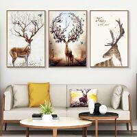 客厅装饰画现代简约大气三联画家居北欧ins挂画壁画沙发背景墙画 60x90整套 白色简框 拼套